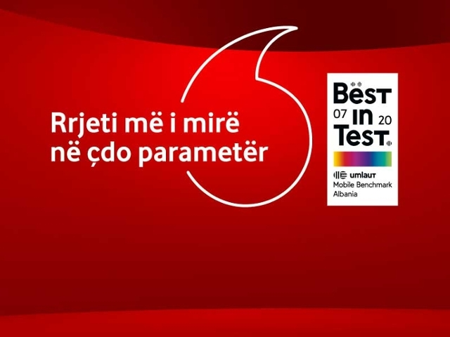 Best in test Vodafone Albania 2