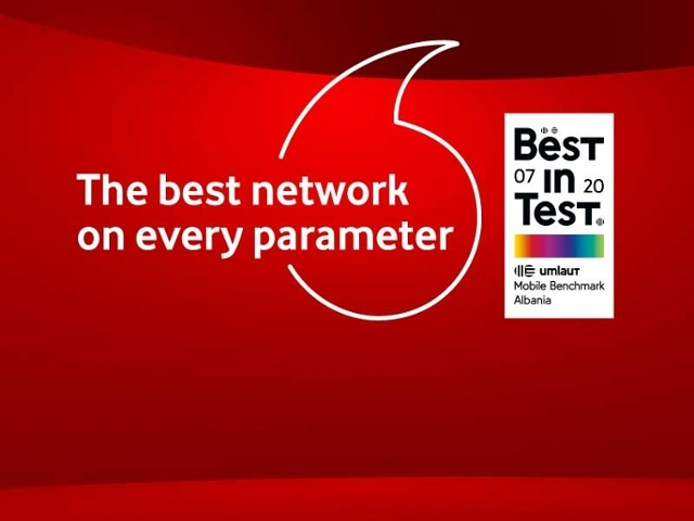 Best in test Vodafone Albania a