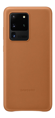 Leather Cover S20 Ultra Brown